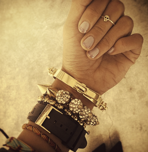 Bracelets and knuckle ring.