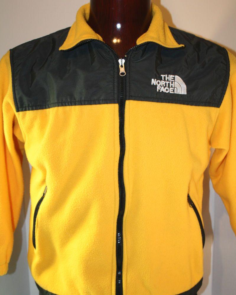 e5457a653d64 The North Face Mens Zipper Fleece Gore-Tex Jacket Small Coat Yellow Black