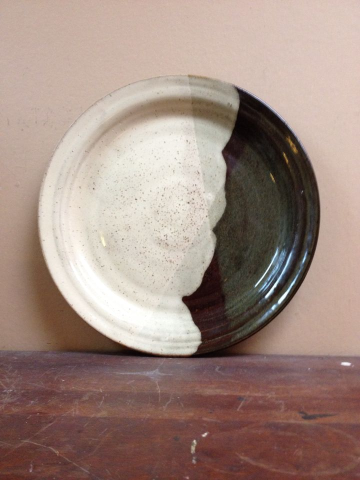 One of a trio of dinner plates I made