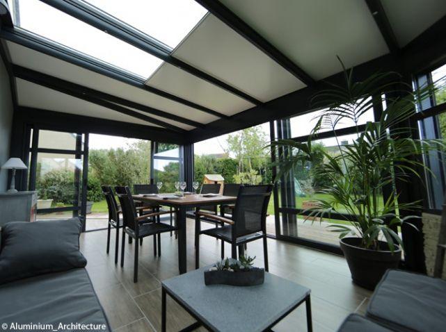 les v randas pas si has been que a elle d coration veranda alu v randas et noir. Black Bedroom Furniture Sets. Home Design Ideas
