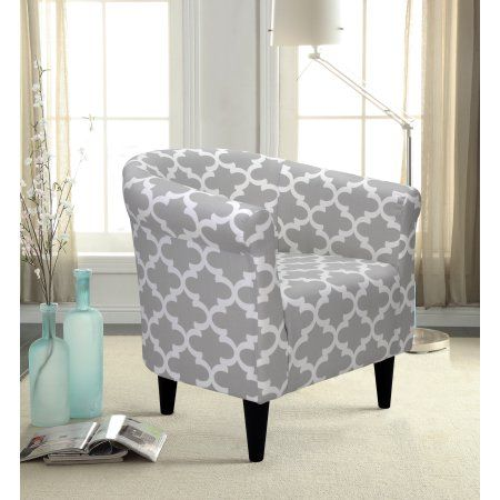 Mainstays Microfiber Bucket Accent Chair Gray Walmart Com Accent Chairs Barrel Chair Dorm Seating