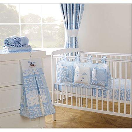 George Baby Cloud Print Patchwork Nappy Stacker Amp Cot Tidy