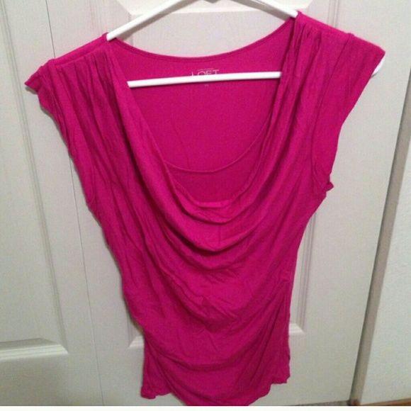 Pink loft scoop neck top Pink loft scoop neck top,  excellent condition LOFT Tops