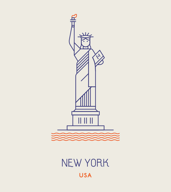 New York Usa New York Illustration Illustration Design Graphic Design Illustration