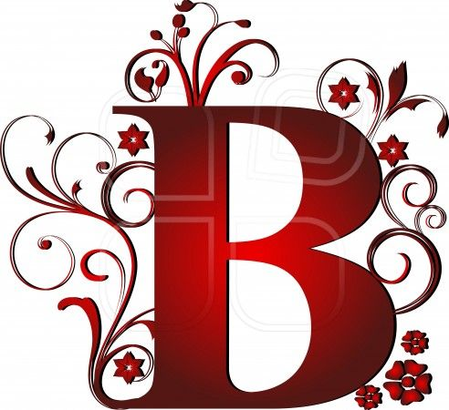 Capital Letter B Red Abstract Alphabet Alphabetic  The Letter