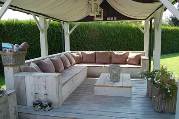 Garden sofa bouwtekening steigerhout zelf je meubels maken nature 39 s way pinterest - Hoek sofa x ...