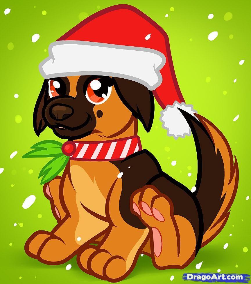 how to draw a christmas dog christmas dog drawing pinterest