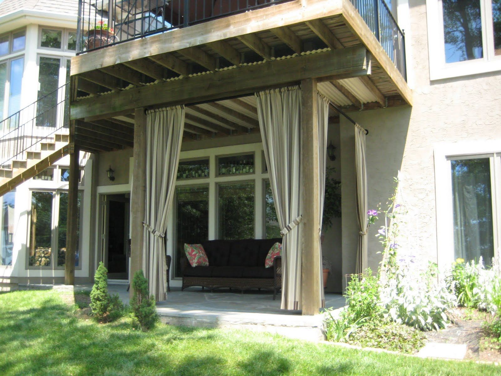 Outdoor Various Style Of The Patio Curtain Ideas Living Designs Rugs Plus Outdoors