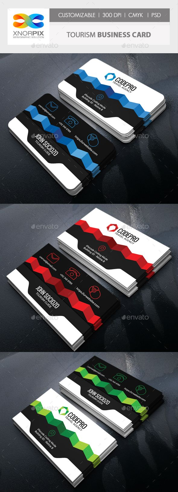 Tourism business card corporate business cards business card business card detail adobe photoshop cs4 version round square corner possible easy to edit pinteres reheart Image collections