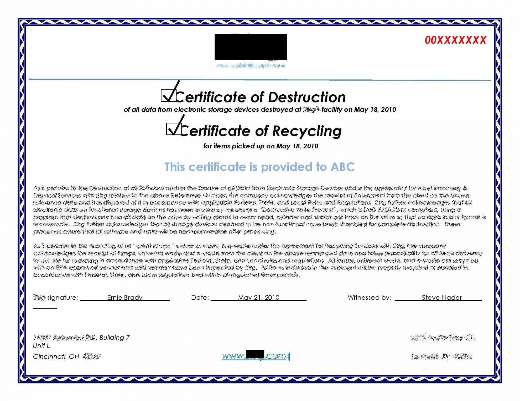 certificate destruction template drive hard templates sample printable certificates emetonlineblog pejuang editable admin