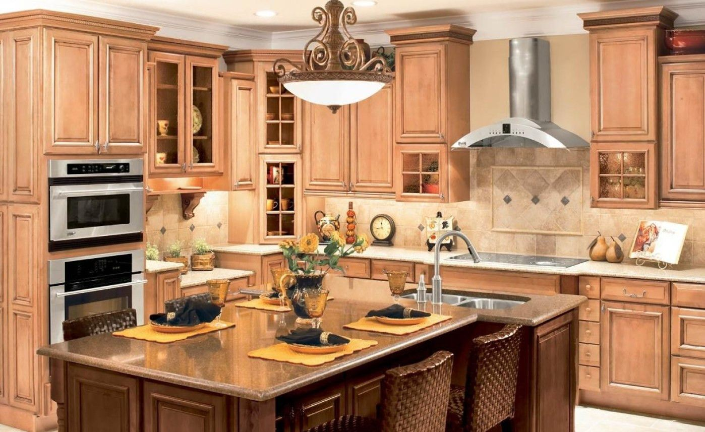 Elegant American Woodmark Kitchen Cabinets