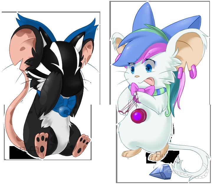2 mice 1 yo-yo by Fluffily on DeviantArt