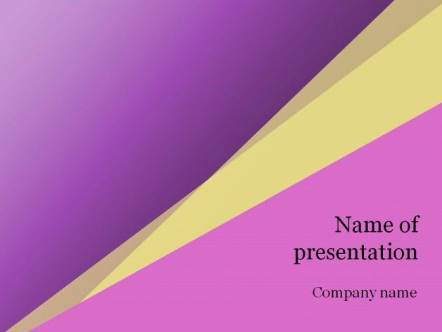 Pink Yellow Powerpoint Template Powerpoint Templates Pinterest