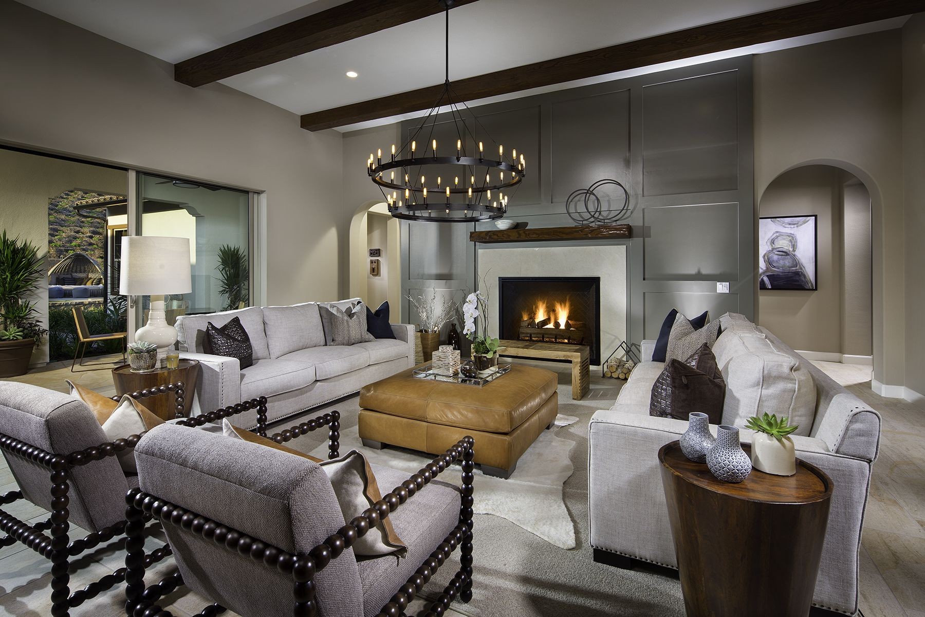 a modern ranch style living room for the ultimate host