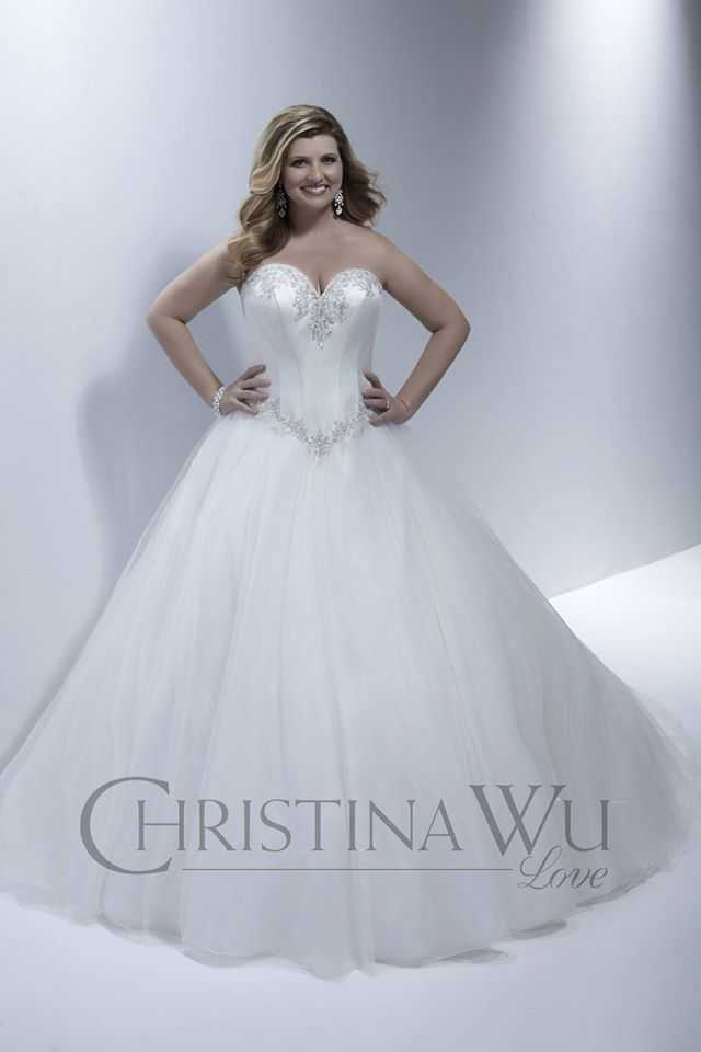 Wedding/Bridal ivory dress from Christina Wu Love. Princess style ...