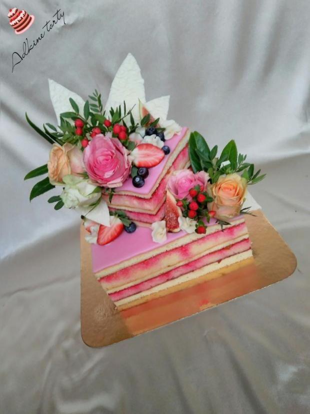 Svadobná punčová tortička   Tortička, Krásne svadobné