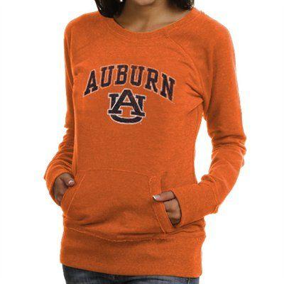 Auburn Tigers Womens Scoop Neck Fleece Sweatshirt Orange