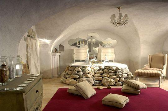 salle de bains ouverte sur la chambre 9 photos de. Black Bedroom Furniture Sets. Home Design Ideas