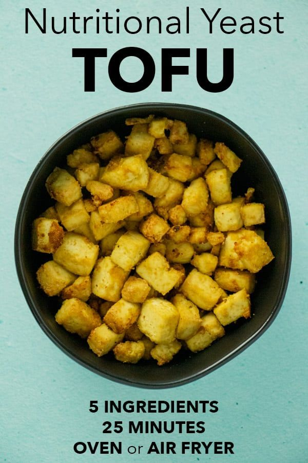 Savory Nutritional Yeast Tofu Only Requires A Few Ingredients To Make And Is Perfect As A Main Dish Or In Gr Nutritional Yeast Recipes Delicious Tofu Nutrition