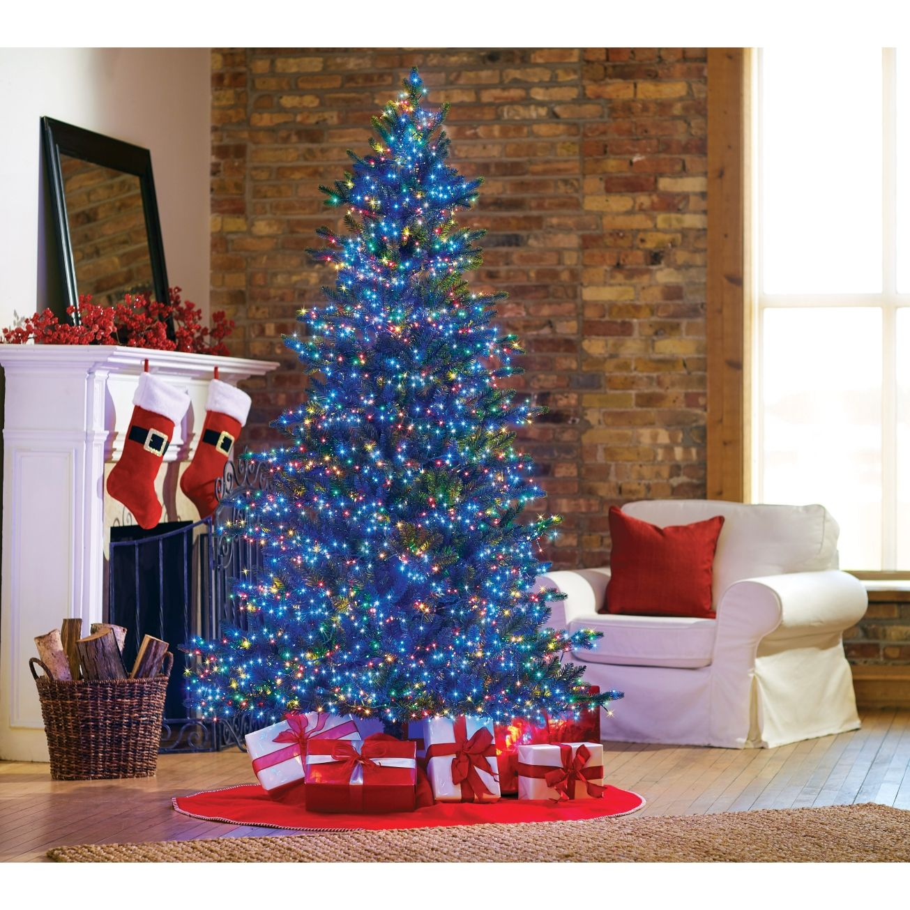 ace hardware wonderful time firs griswold overlit fir multicolored lights 7 ft prelit christmas tree 3080 lights christmas trees