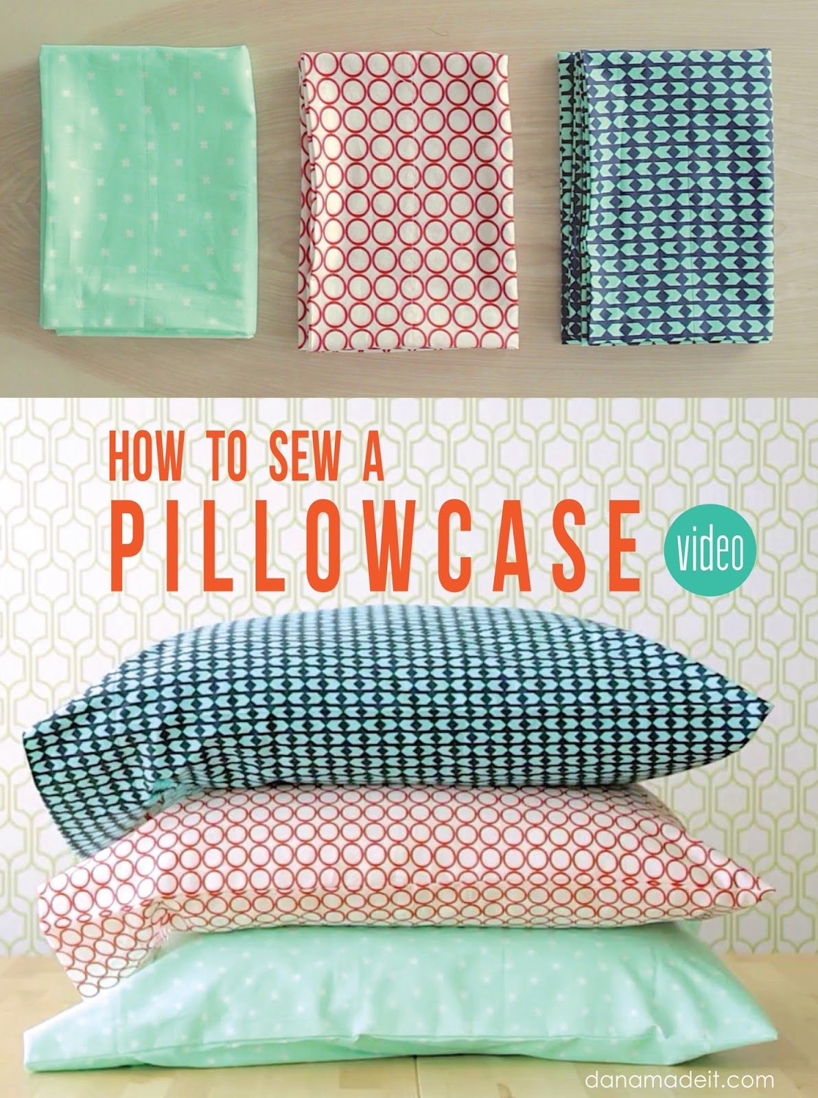 How to Sew a Pillowcase • 2 ways • 1 yard of fabric – MADE EVERYDAY ...