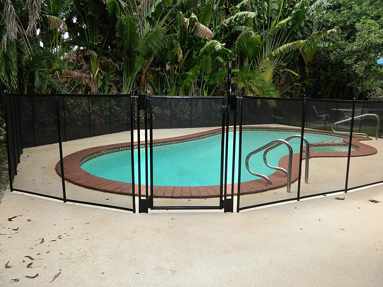 Pool Fence Diy By Life Saver Self Closing Gate Kit Black Pool Safety Fence Backyard Fences Safety Fence