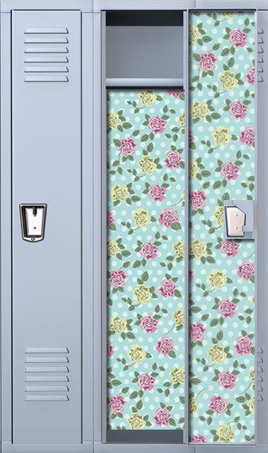 Dots & Roses School Locker Wallpaper School lockers