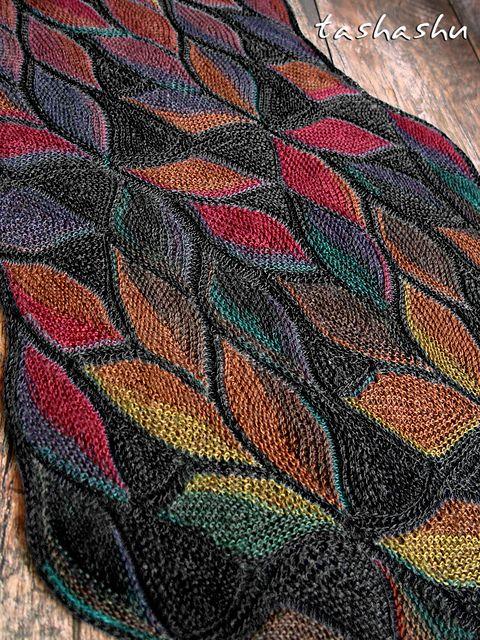 Scarf Dryad pattern by Svetlana Gordon | Tejido, Chal y Patrones ...