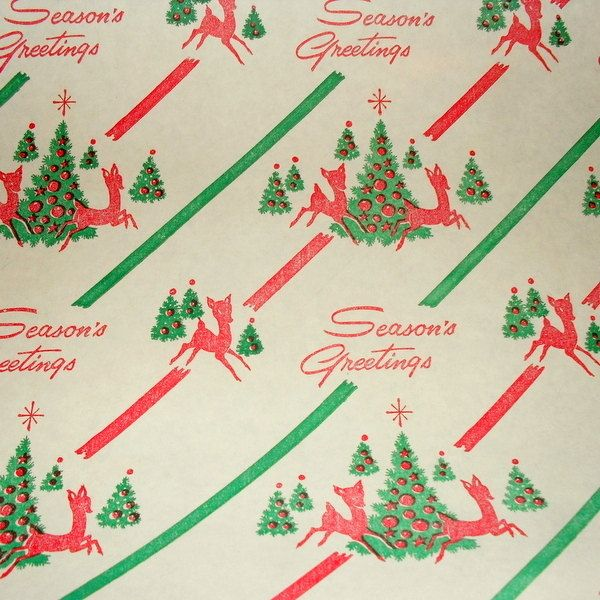 Vintage Christmas Gift Wrap Paper Vintage Christmas Wrapping Paper Vintage Christmas Gifts Vintage Wrapping Paper