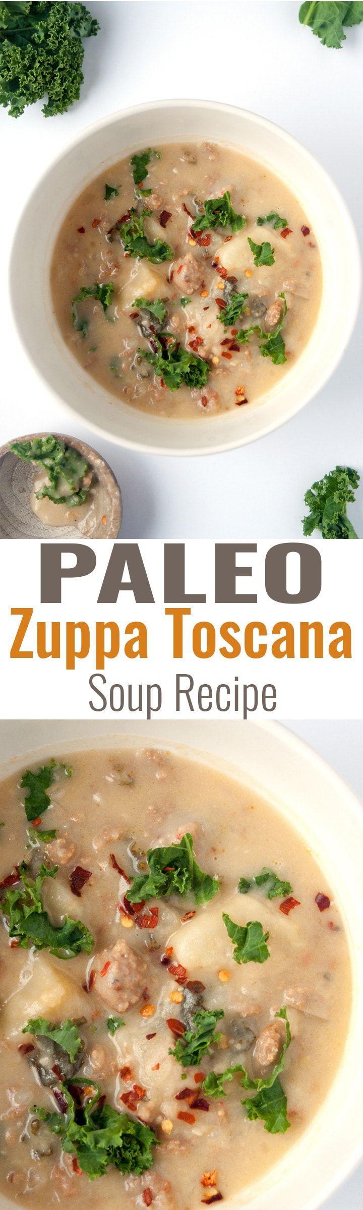 Paleo Zuppa Toscana Soup - eine leichte und einfache Paleo-Variante eines klassischen ... - #einfache #leichte #paleo #toscana #variante #zuppa - #Lorine'sZuppaToscanaSuppe #zuppatoscanasoup