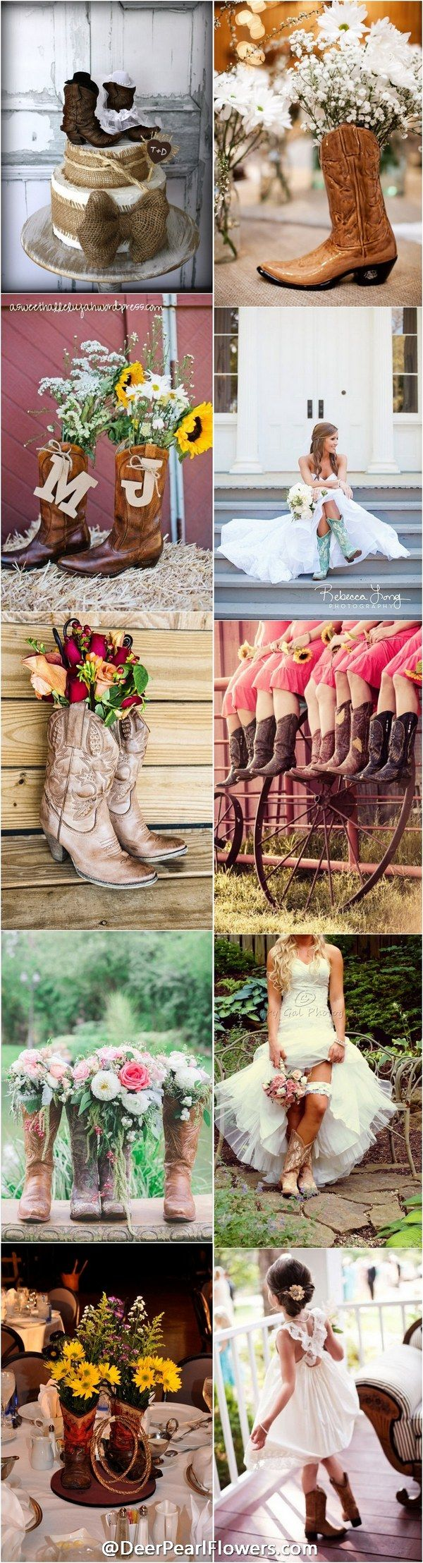 delightful Cowgirl Wedding Ideas Part - 6: rustic country cowboy cowgirl wedding ideas -  http:--www.deerpearlflowers.com