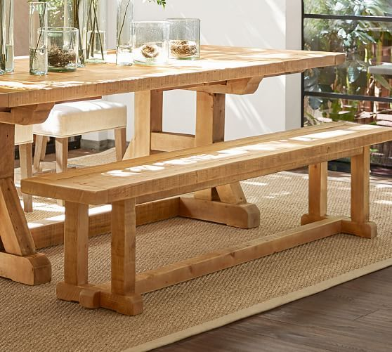 Stafford Reclaimed Wood Bench | Pottery Barn | Things to do | Pinterest