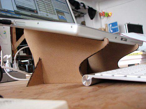 Diy Cardboard Laptop Stand Carton Hazlo Tu Mismo Soporte Del