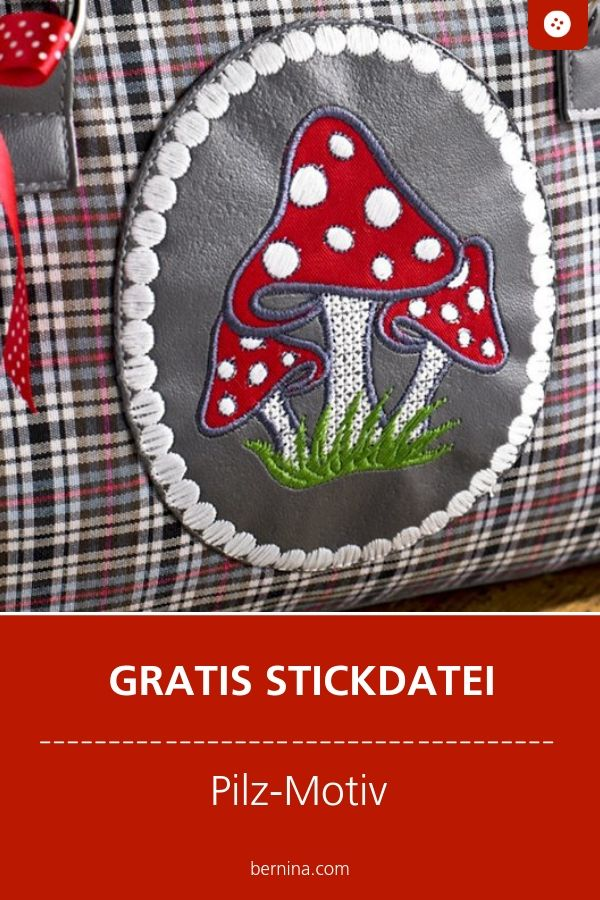 Pilze Stickdatei Freebie