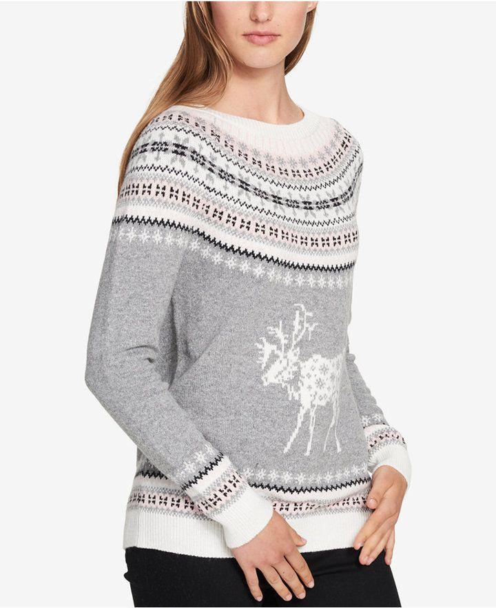 f682766e4a2 Tommy Hilfiger Fair Isle Deer Sweater