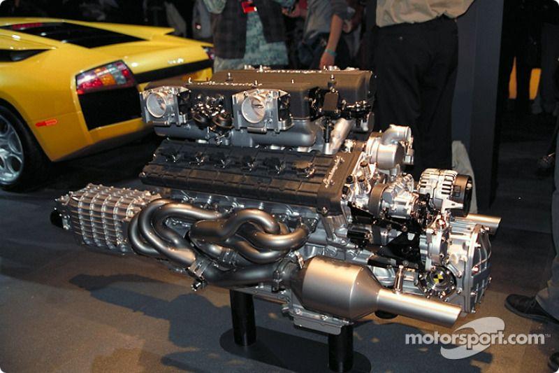 The Lamborghini Murcielago V12 engine at North American