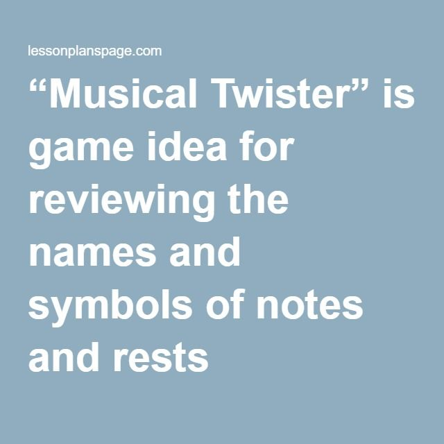 Standard 5 Musical Twister Is A Fun Game To Play To Learn All Your