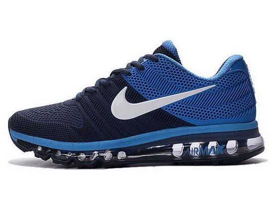 newest fe7a3 80fdf Mens Nike Air Max 2017 Kpu Dark Blue White Online
