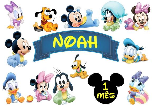Topo De Bolo Turma Do Mickey Mesversario No Elo7 Boller Personalizados 1202a1b Mickey Bolo Mickey Baby Bebe Mickey