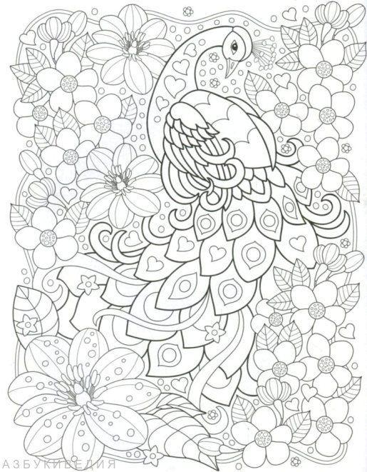 Vögel. Entspannen Färbung | Colouring Pages | Pinterest
