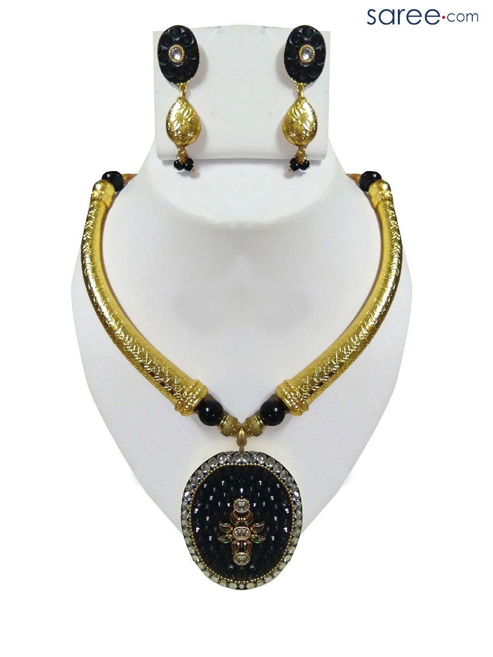 Black and golden antique pendant set accessories pinterest black and golden antique pendant set aloadofball Image collections