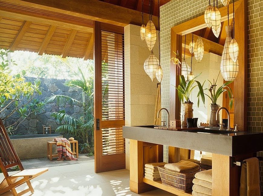 48 Breathtaking Outdoor Bathroom Designs That You Gonna Love Casas Classy Outdoor Bathroom Plans Model