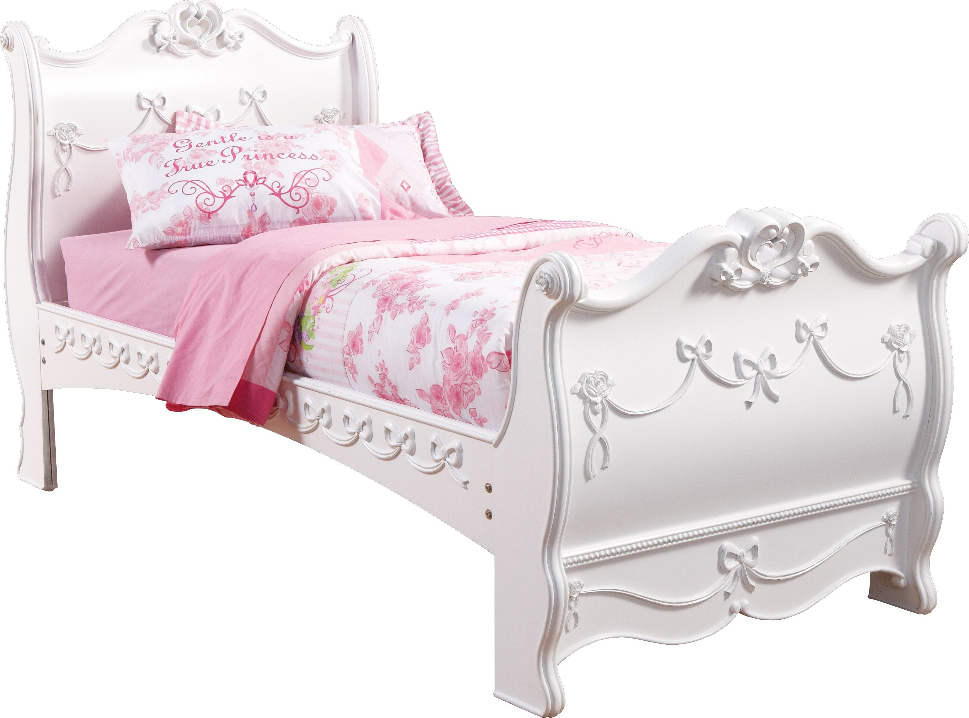 Disney Princess White 3 Pc Full Sleigh Bed Twin Sleigh Bed