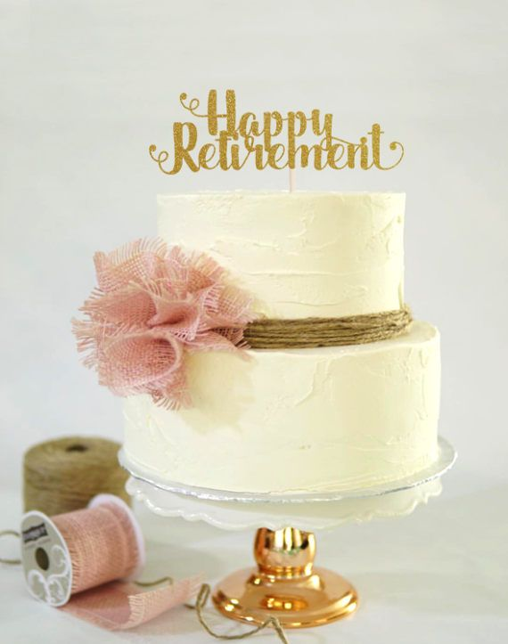 Happy Retirement Cake Topper Cake Decoration Glitter Graduation