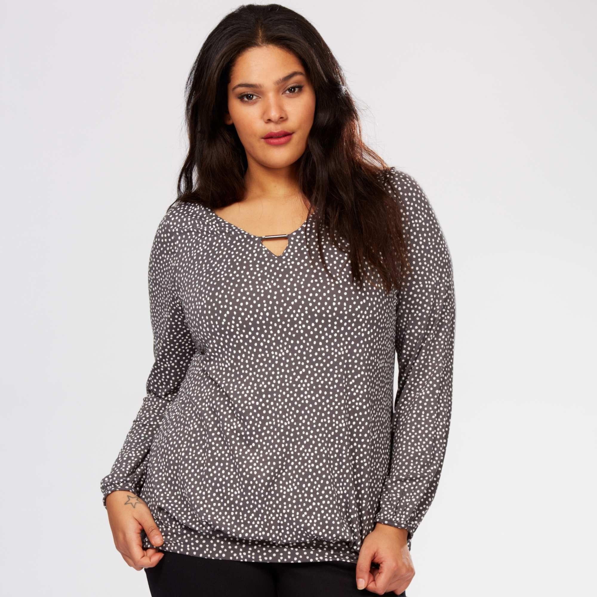 310fcd4c95ca59 Tee-shirt avec bijou Grande taille femme - Kiabi - 15,00€ | Curvy ...