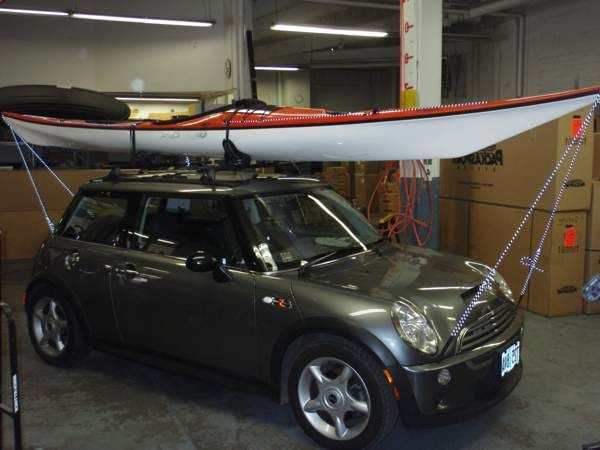 Mini cooper roof rack kayak