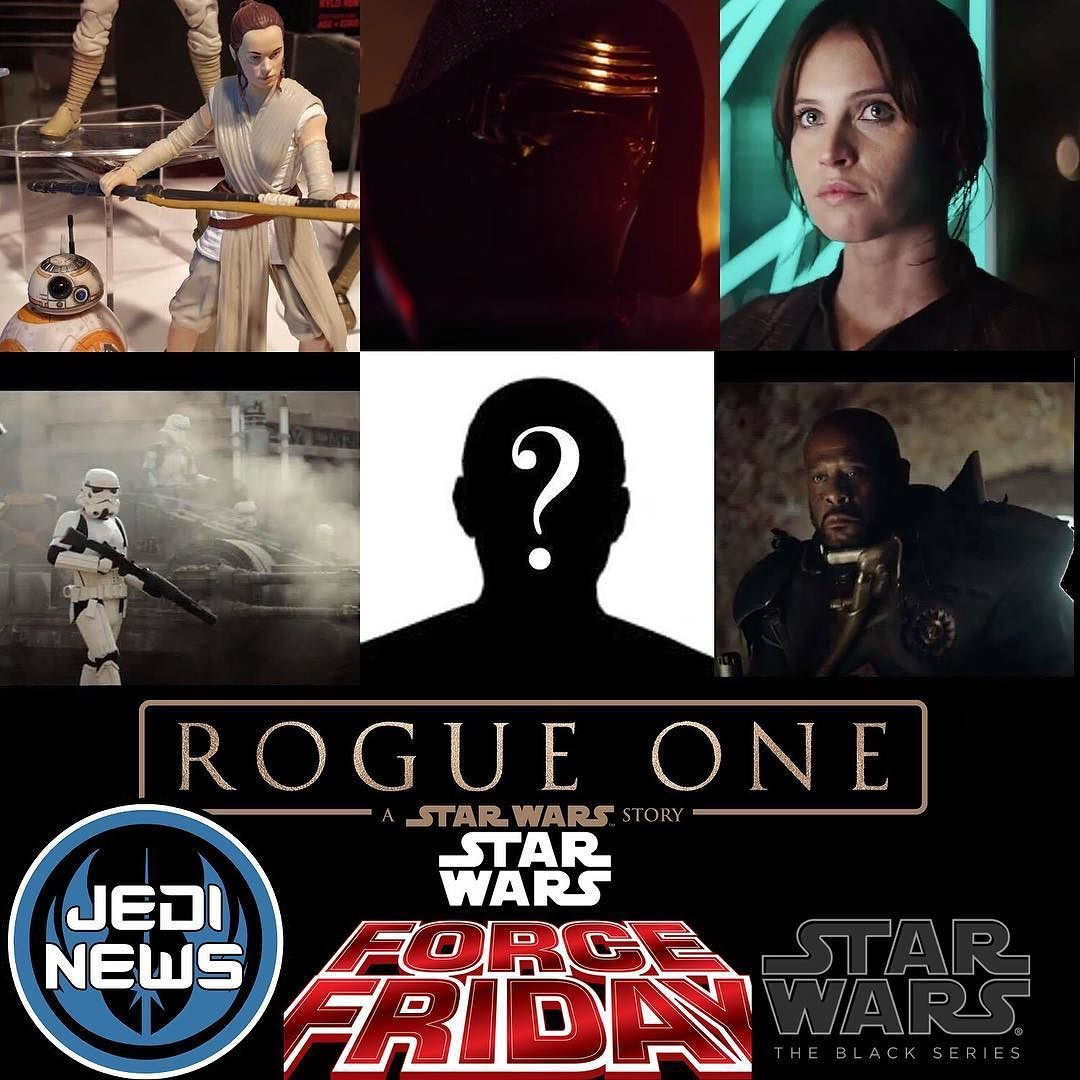 "Today we can bring you exclusive news on what is rumoured to be in wave one of this years Rogue One launch line-up from Hasbro ""Force Friday"" on 30th September.  The following 6"" figures will be released:: Rey / BB-8 (Re-Pack) Kylo Ren (new mould) Rogue One: #JynErso Rogue One: #Stormtrooper Medical Droid Rogue One: ""Seal Team Male"" - Forest Whitaker's character.  Keep checking back on Jedi News over the course of the weekend as we will bring you all the details on further future waves and…"