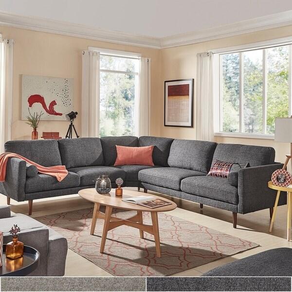 Carson Carrington Hjarpasen L Shape Sectional Sofa Light Heathered Grey Gray In 2020 Sectional Sofa Furniture Sofa Design