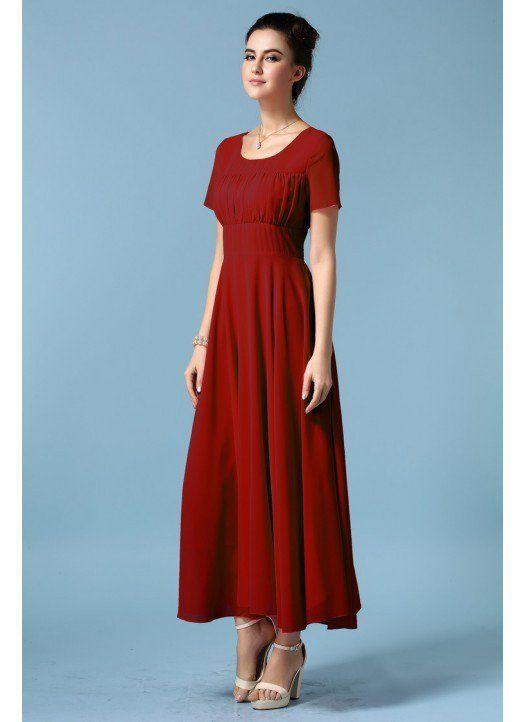 6f48815dc7f New Style Chiffon Long Designer Western Dress for Women.
