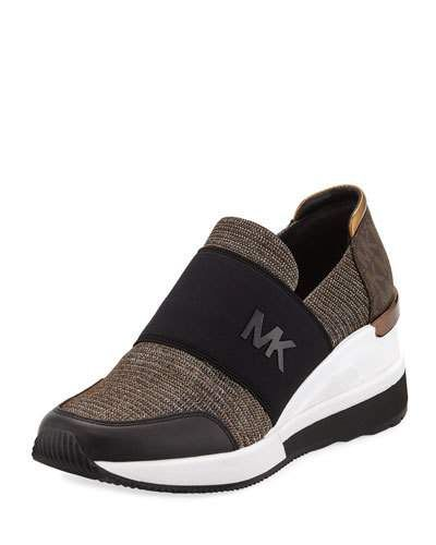 03bddd8528b Michael Michael Kors Felix Logo Slip-On Trainer Sneakers